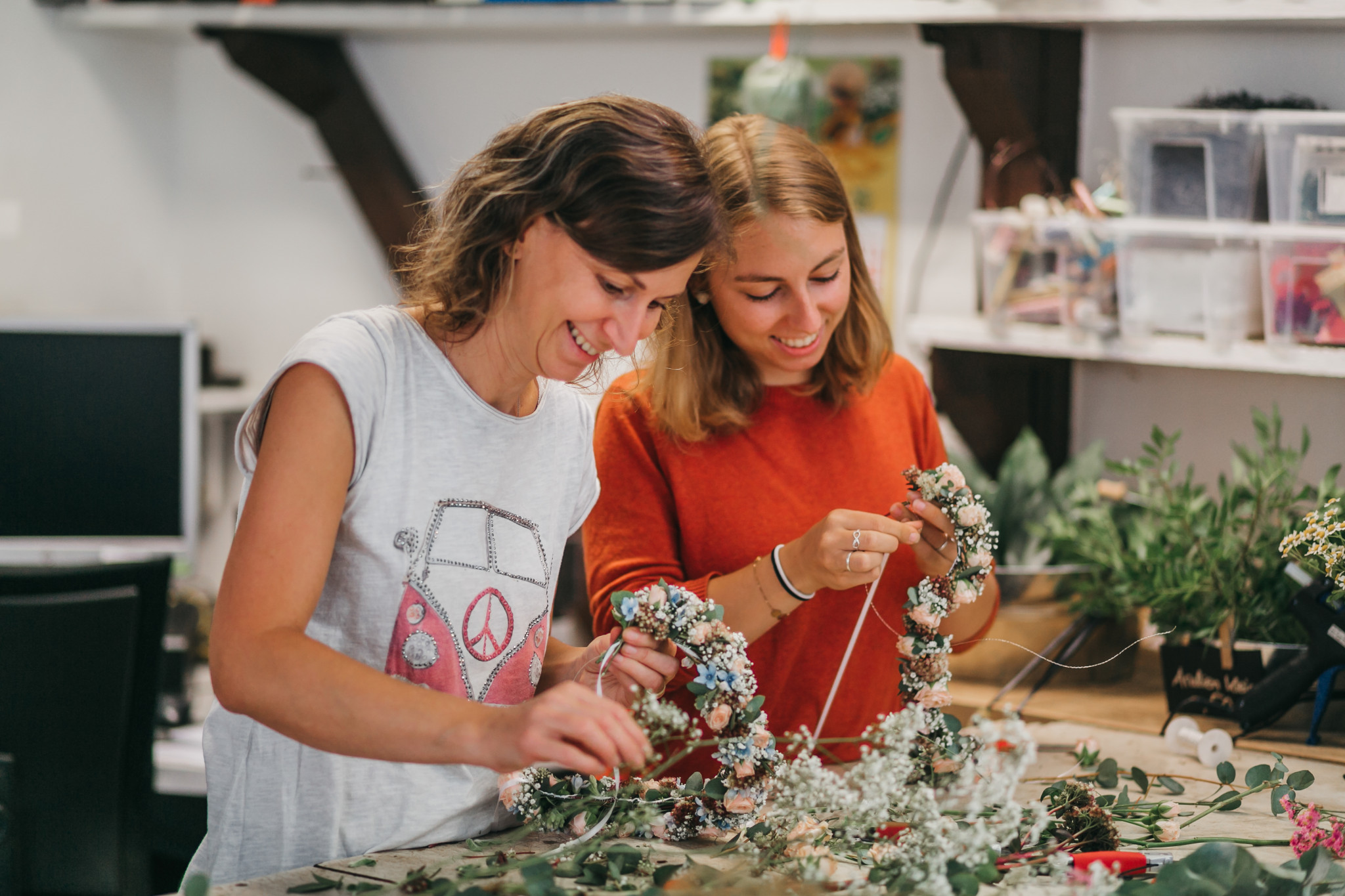 Blumenkranz-Workshop mit Anneschd & Naturkunst Lorsch