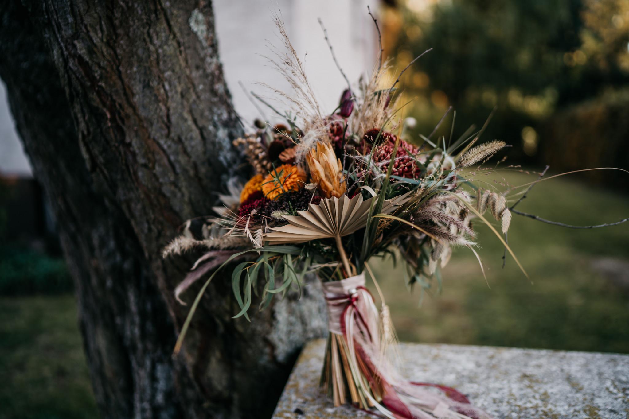 Bohemian After-Wedding-Shooting Brautstrauß