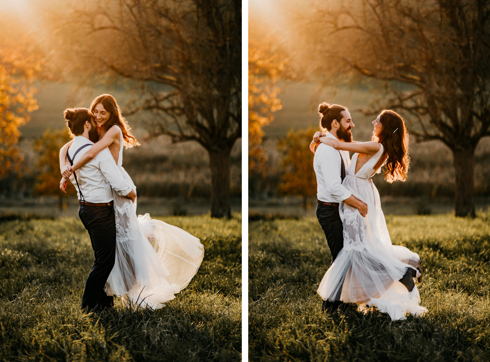 Bohemian After-Wedding-Shooting Sonnenuntergang