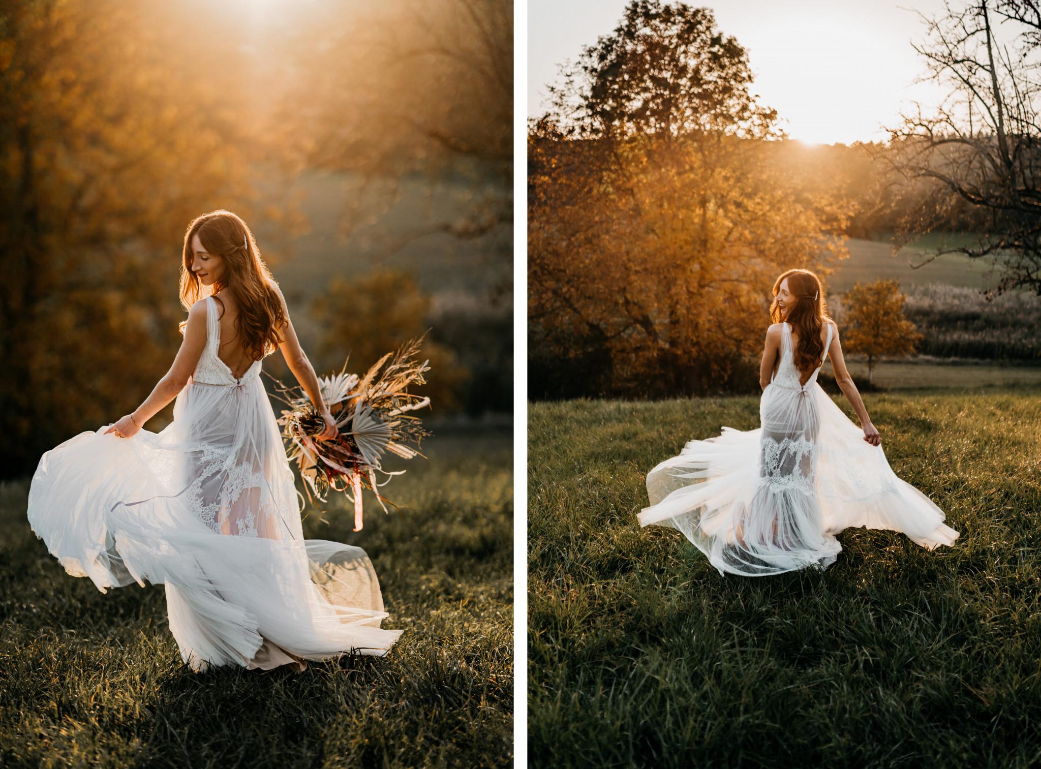 Bohemian After-Wedding-Shooting Braut-Shooting