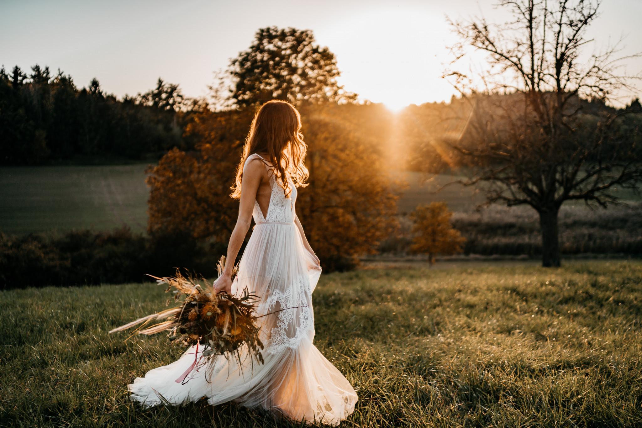Bohemian After-Wedding-Shooting Brautkleid