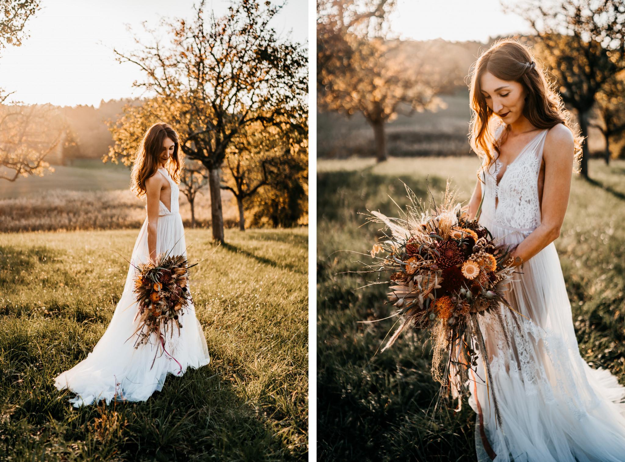 Bohemian After-Wedding-Shooting Boho-Dress