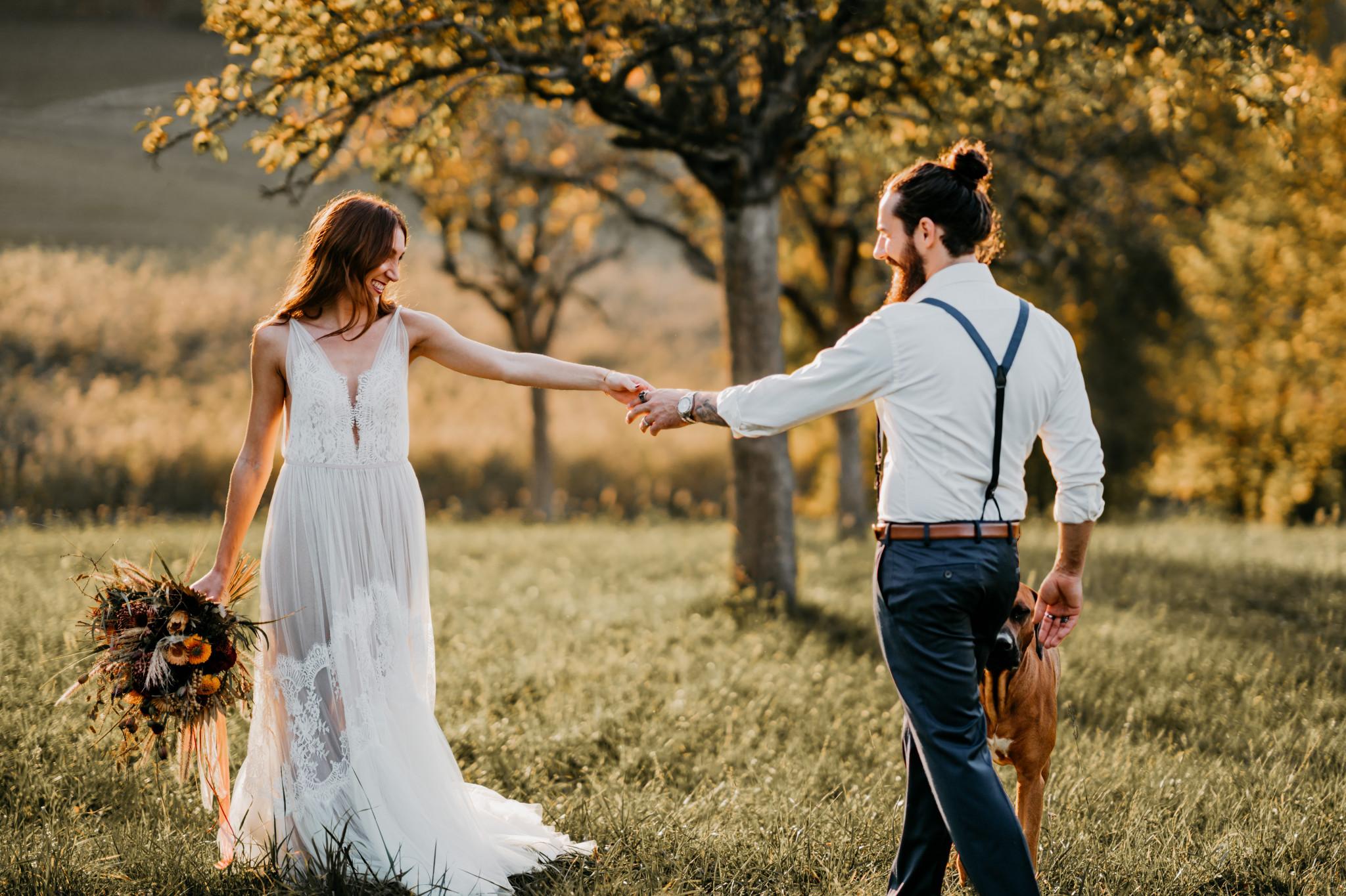 Bohemian After-Wedding-Shooting Brautpaar