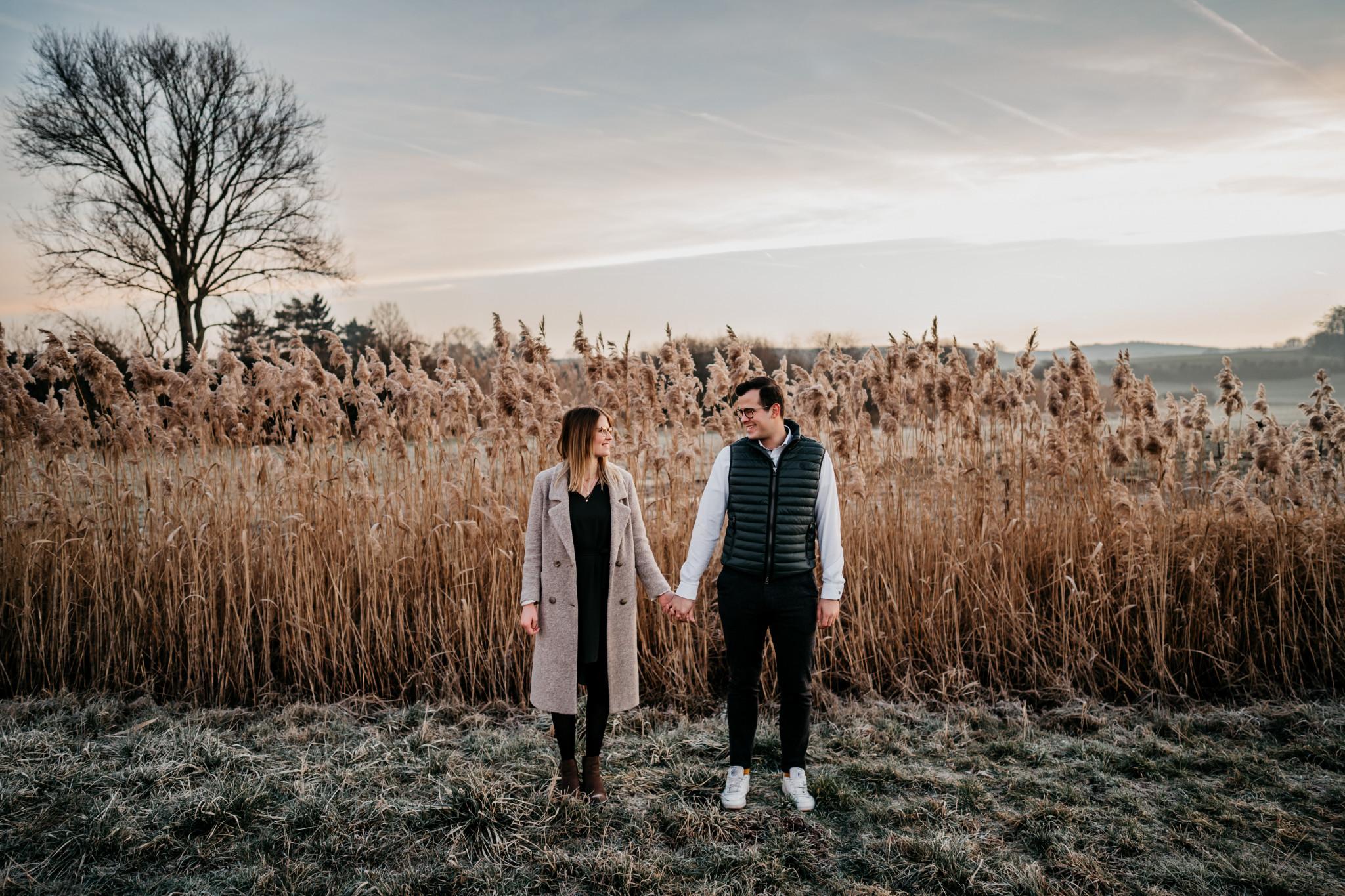 Verlobungsshooting bei Sonnenaufgang
